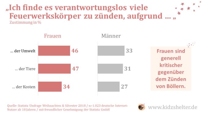 Abbildung 5: Einstellungen der deutschen (Online-) Bevölkerung zu Silvesterfeuerwerken.