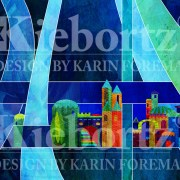 100% Silk Jewish Prayer Shawl Jerusalem Blue