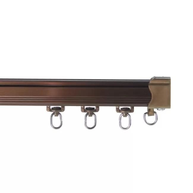 wall mount thin aluminium flexible curtain rail tracks