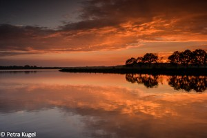 Zonsondergang Oldambtmeer