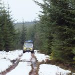 Mountain Rescue Land Rover in the snow