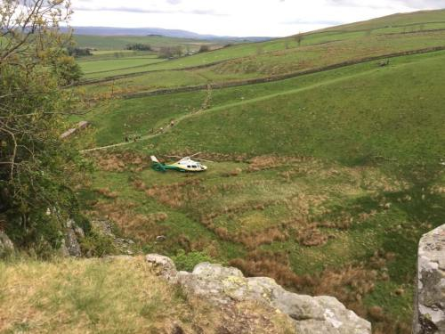 Great North Air Ambulance at Peel Crag