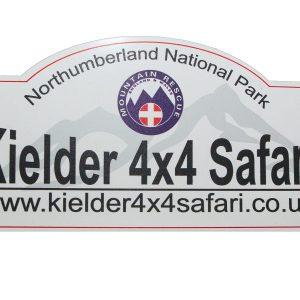 Kielder 4x4 Safari Rally Plaque