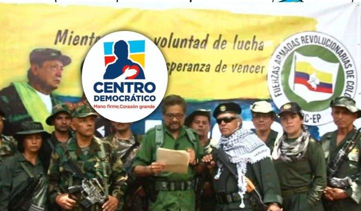 Resultado de imagen para farc centro democratico