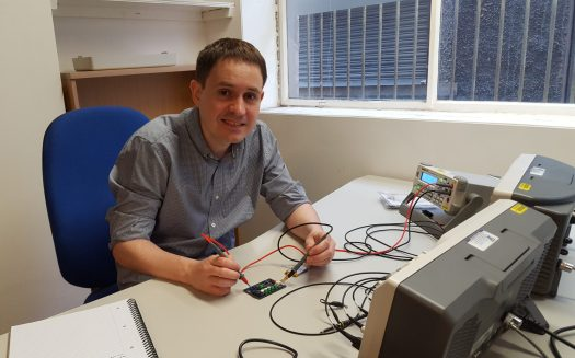 Kieran O'Leary working on an Industrial IoT project for a client