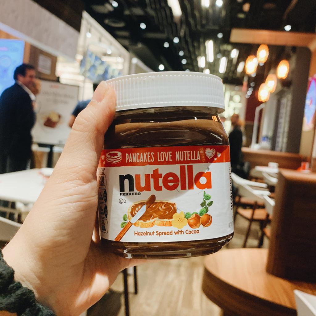 nutella jar at the nutella cafe