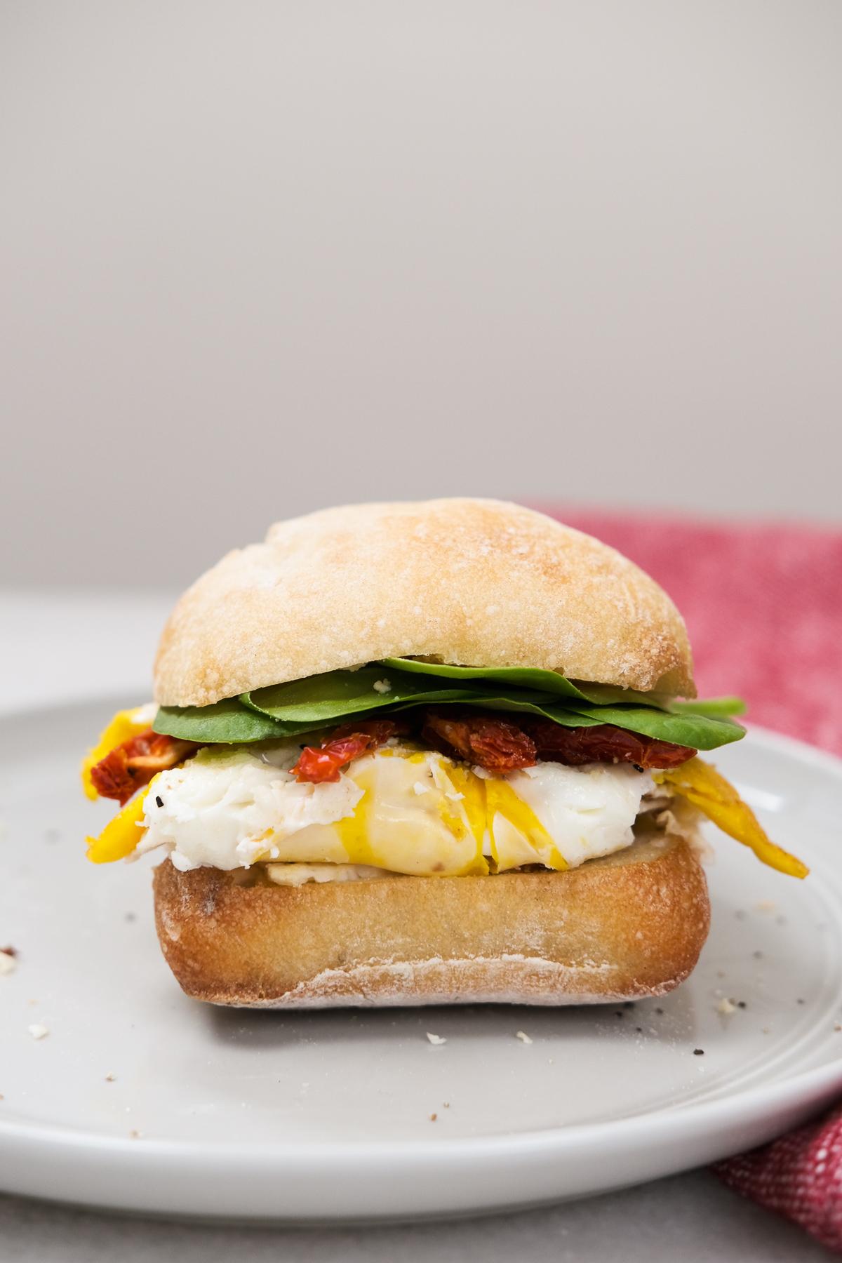 ciabatta boursin breakfast sandwich