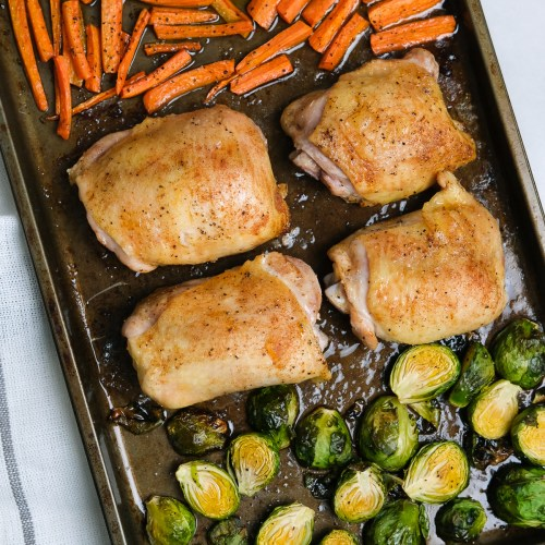 Chicken Thigh Sheet Pan Dinner