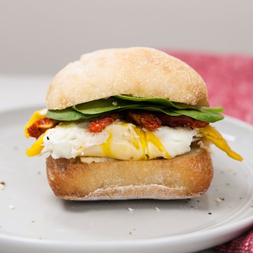Ciabatta Boursin Breakfast Sandwich