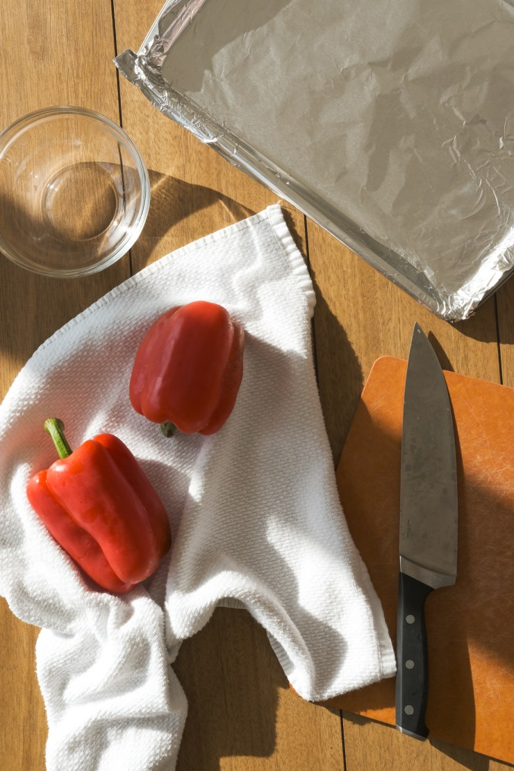 items needed to roast red peppers