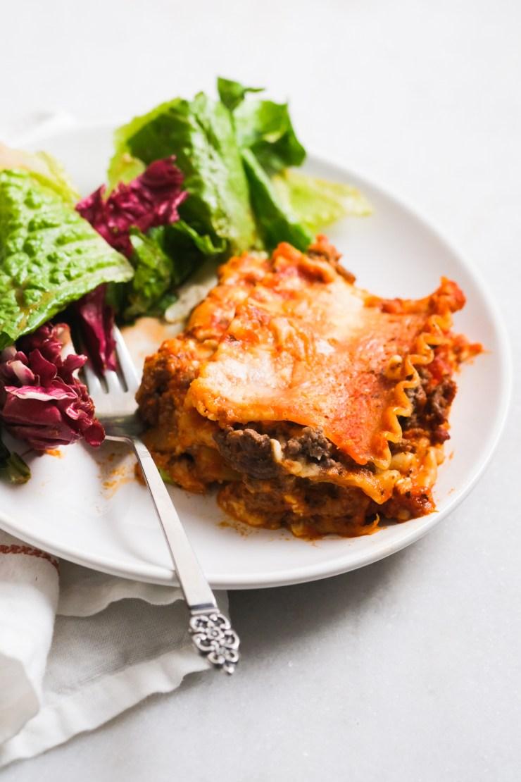 cottage cheese lasagna slice