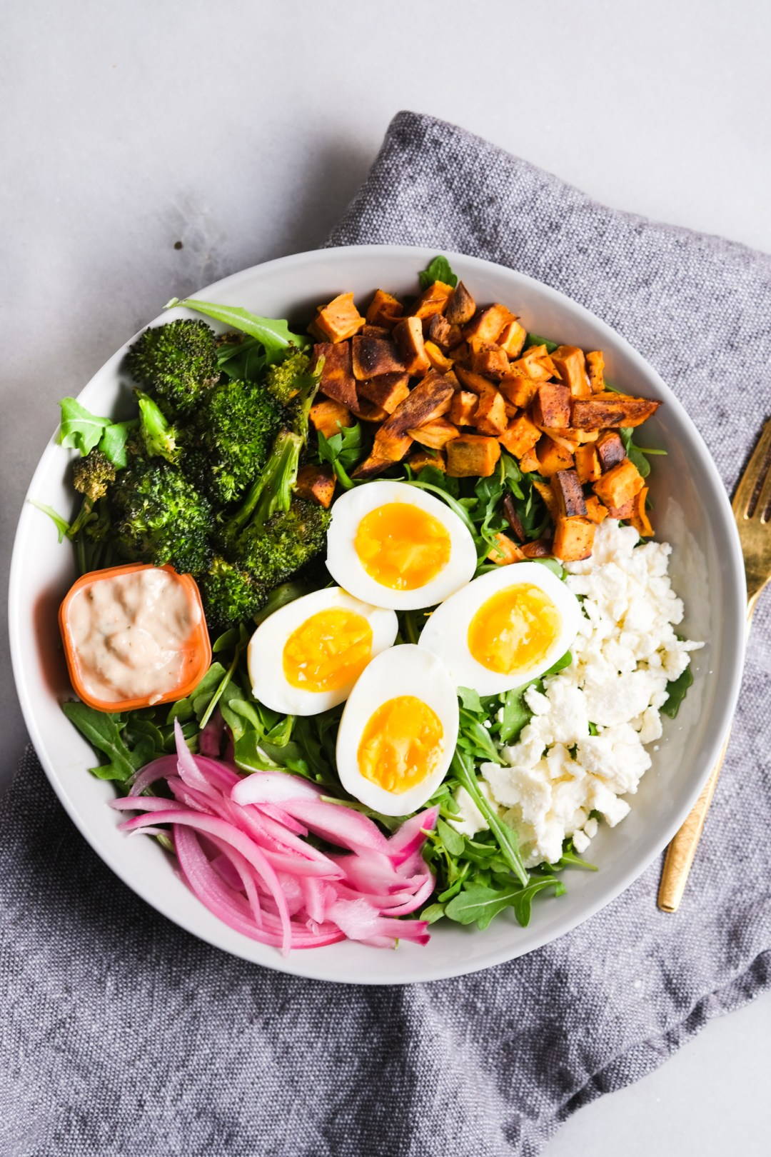goddess arugula lunch bowl