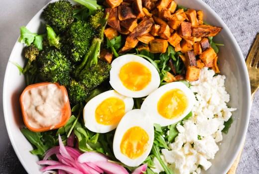 goddess arugula lunch bowl