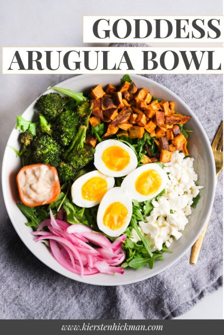 goddess arugula bowl perfect salad for lunch