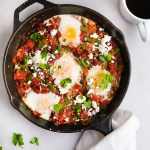 shakshuka recipe in a small skillet