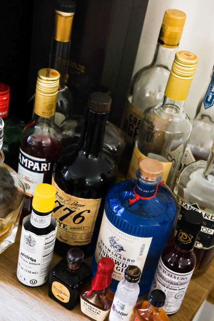 liquor for at home bar