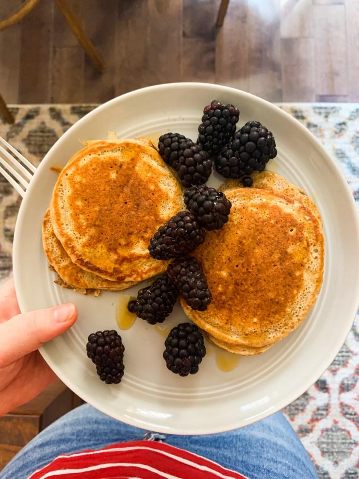 easy snack idea protein pancakes