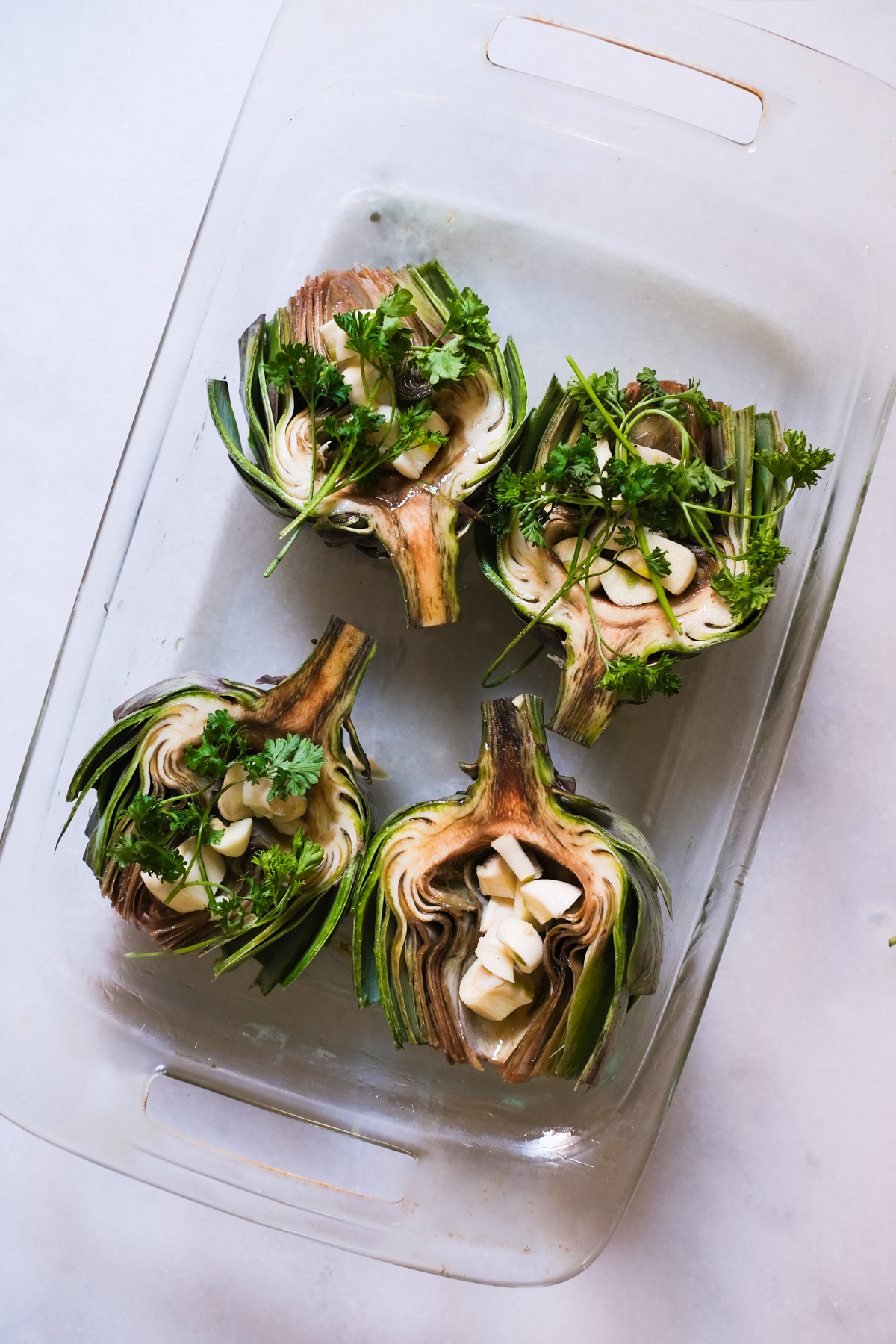 artichokes stuffed with garlic and parsley
