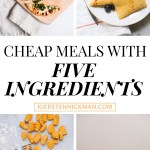 cheap meals with five ingredients