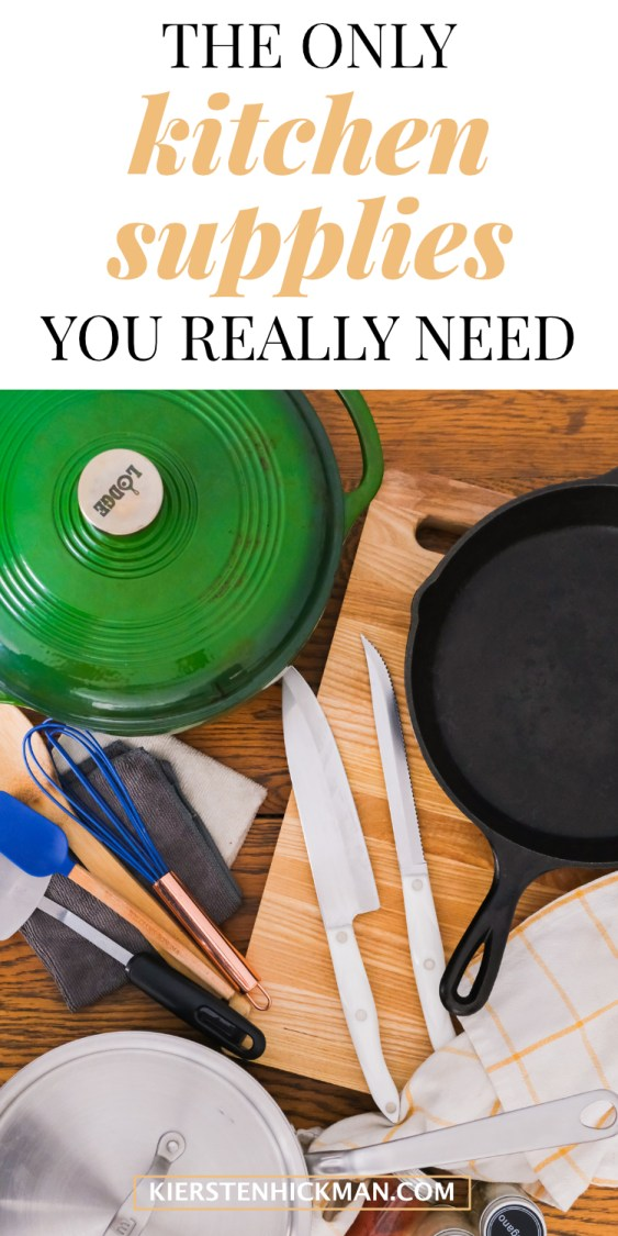 kitchen supplies you need