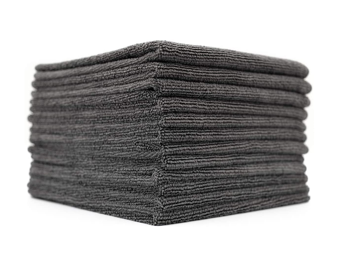 grey microfiber cloths