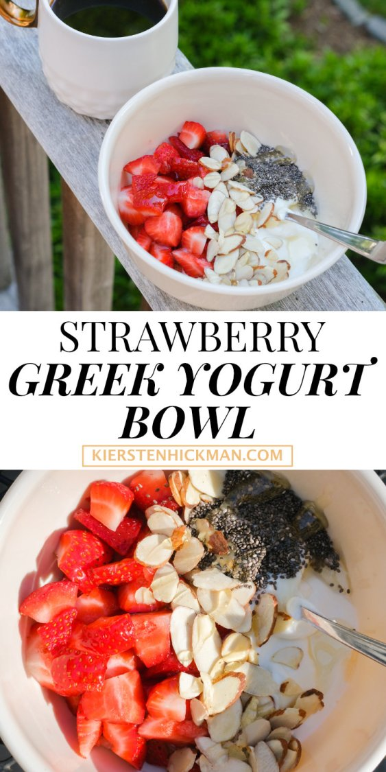 strawberry greek yogurt bowl