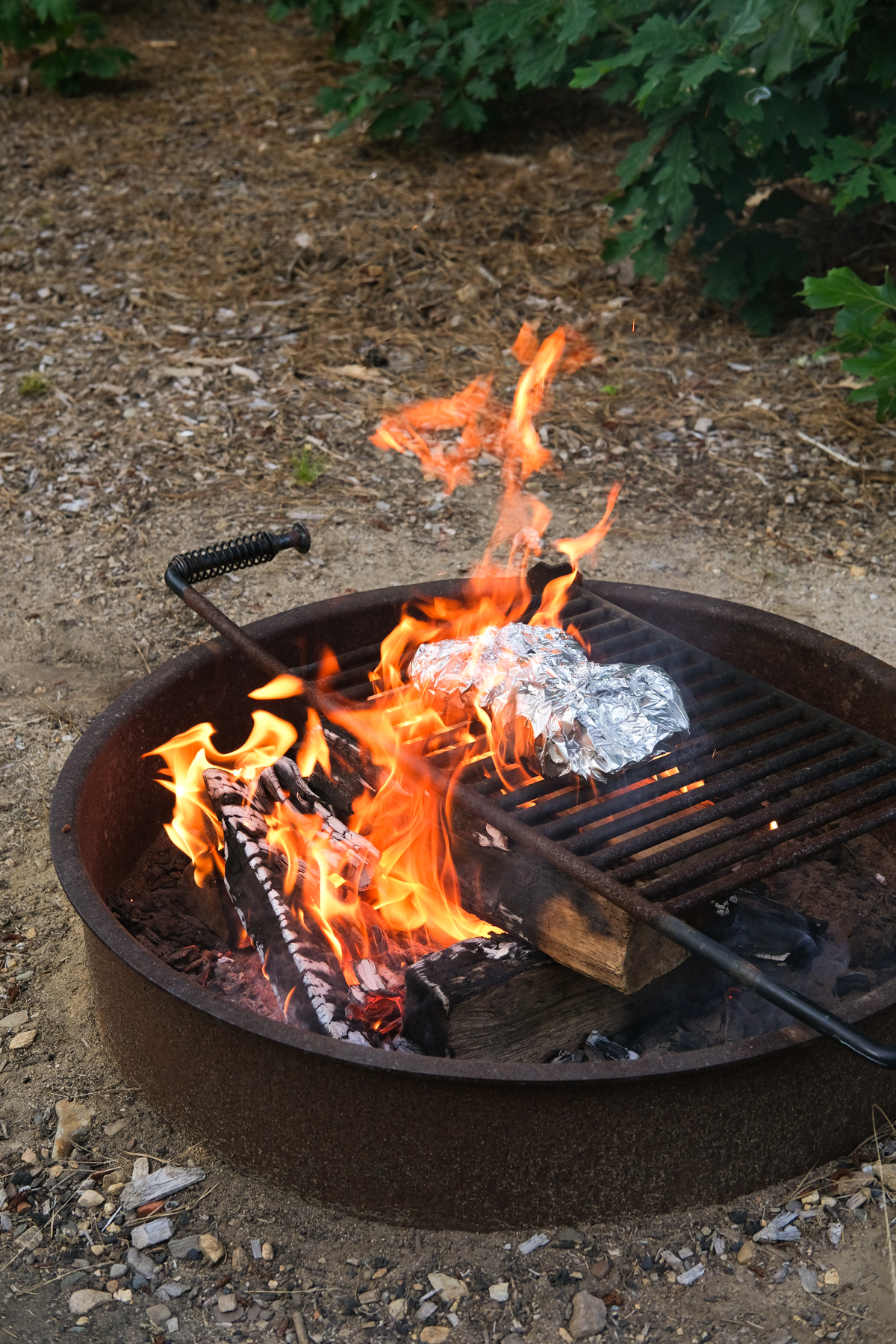 grilling kielbasa foil packs outside