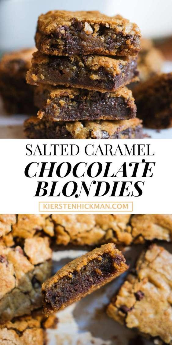 salted caramel chocolate blondies recipe