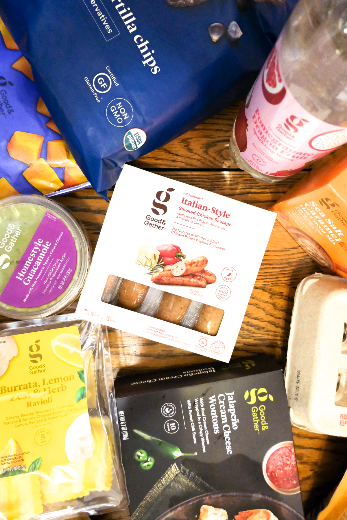 good and gather products from target on a table