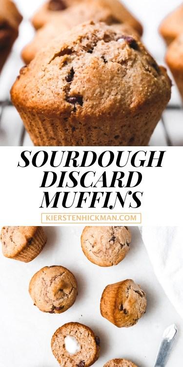 sourdough discard muffins