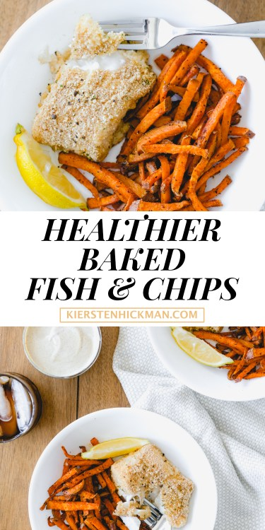healthier baked fish and chips