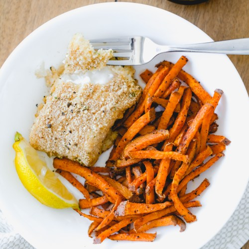 Healthier Baked Fish and Chips Recipe