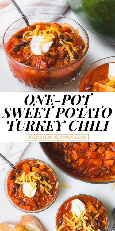 one pot sweet potato turkey chili