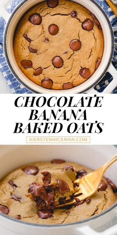 chocolate banana baked oats