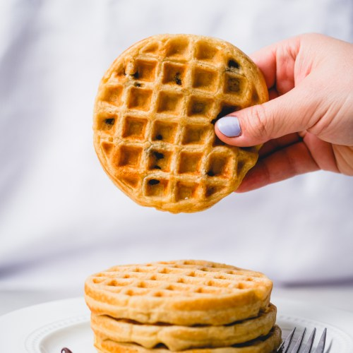 Mini Chocolate Chip Oat Waffles