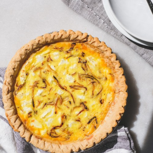 Caramelized Onion & Goat Cheese Quiche