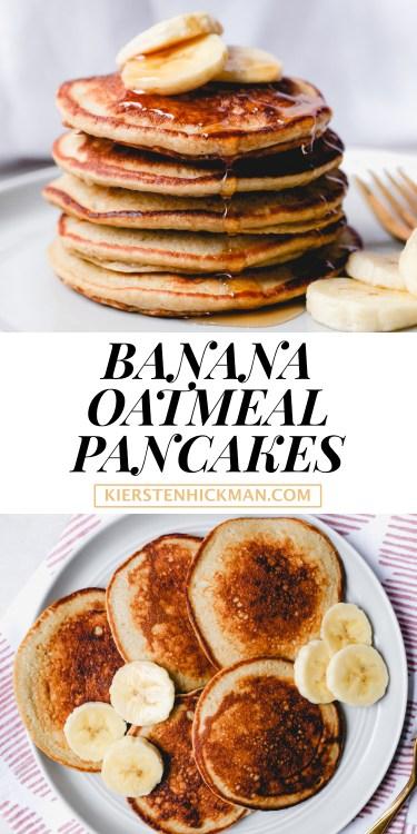 banana oatmeal pancakes