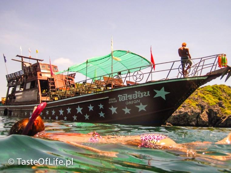 Łódź turystyczna na snorkeling w sam eaz