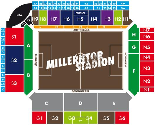 Stadionplan Millerntor