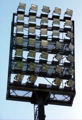 Flutlichtmast Haupttribüne Littmannloch