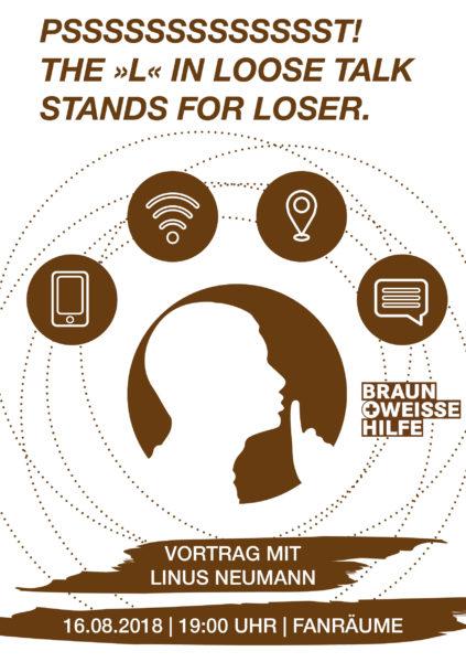Flyer Vortrag Linus Neumann (alle Infos dazu auch im Fließtext)