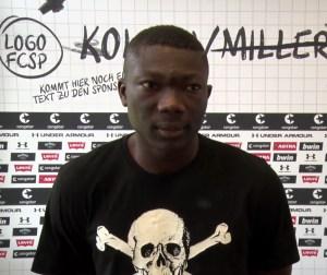 FC St. Pauli-Spieler Youba Diarra im Interview mit fcstpauli.tv (Videosnapshot)