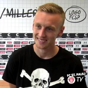 FC St. Pauli-Spieler Sebastian Ohlsson im Interview mit fcstpauli.tv (Videosnapshot)