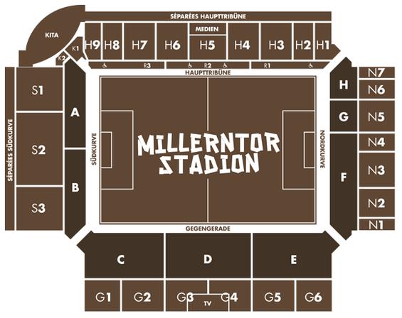 Blockeinteilung Millerntor-Stadion (Grafik: fcstpauli.com)