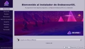 Ilustración 30: EndeavourOS con uno de los instaladores más originales.