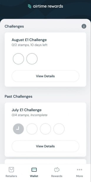 Monthly Challenges on airtime rewards