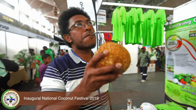 An attendee of the 1st Innaugural National Coconut Festival 2019