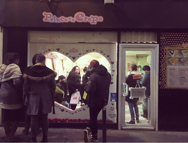 facade boutique paris princess crepe asie japon crepes chocolat glace cheesecake