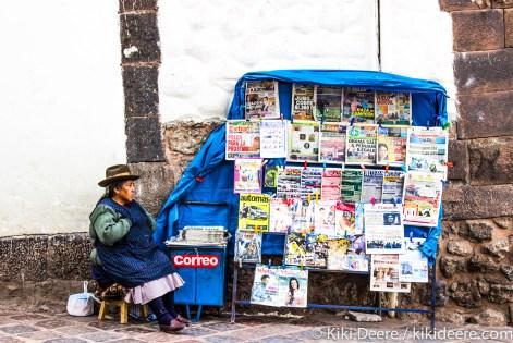 Newspaper Seller, Cusco, Peru