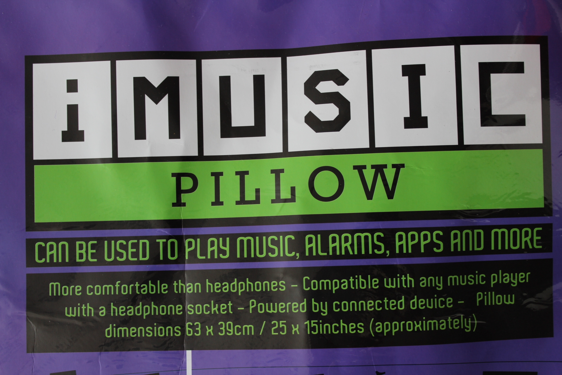 music pillow
